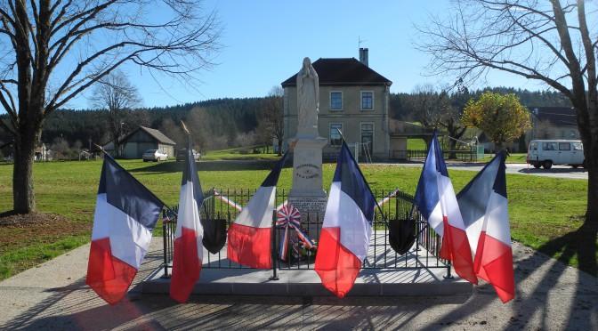 Inauguration du monument aux morts le 11 novembre