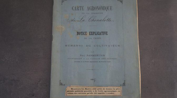 Carte agronomique de La Chenalotte