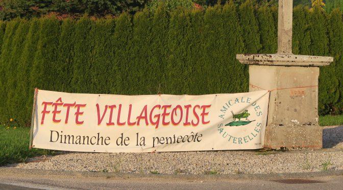 Fête villageoise le 04 juin