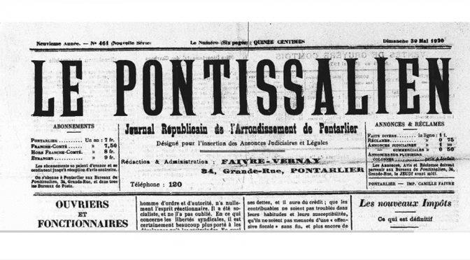 La fête de La Chenalotte, le 23 mai 1920