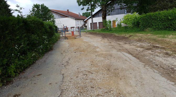 Les travaux rue Rosemont : quelques photos
