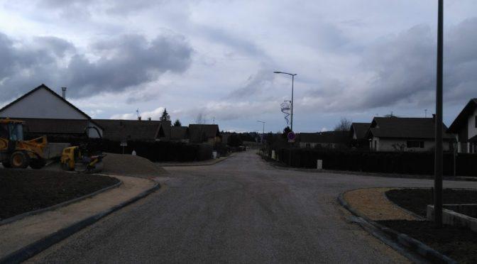 Le chantier de la rue des Tourbières et de Rosemont en photos. 4