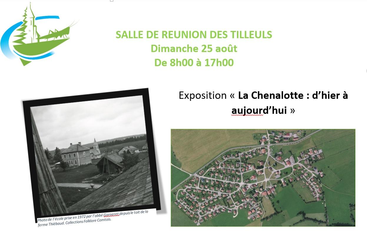 """Expo """"La Chenalotte : d'hier à aujourd'hui. le 25 août"""