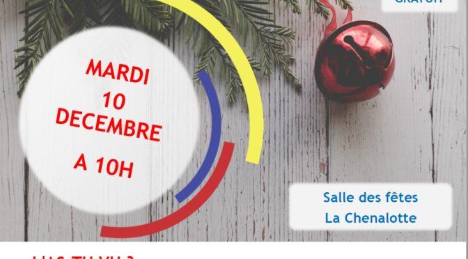 Spectacle gratuit petite enfance le mardi 10 décembre
