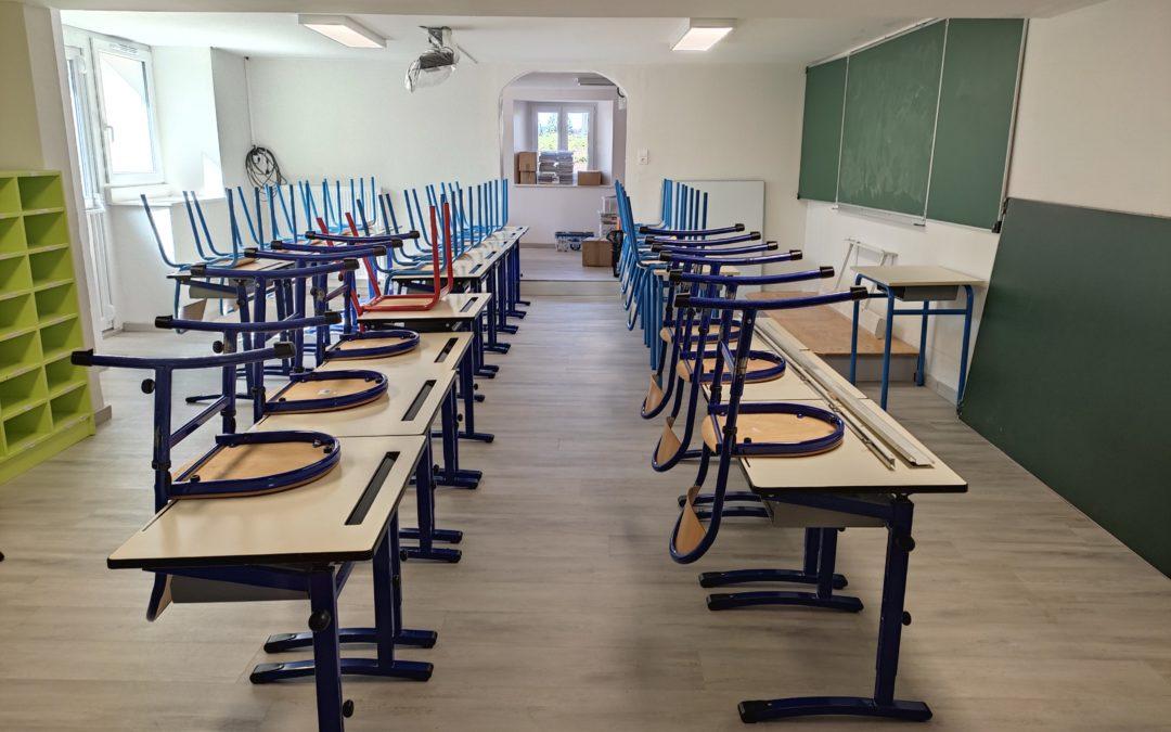 Une nouvelle salle de classe